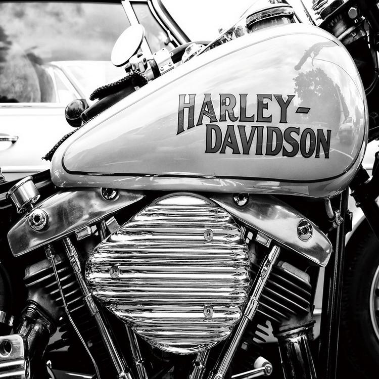 Szklany obraz Harley Davidson b&w