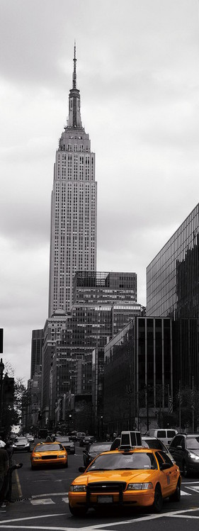 Szklany obraz New York - Yellow Taxi