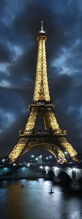 Szklany obraz Paris - Eifferl Tower at Night
