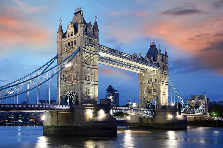 Szklany obraz Tower Bridge, London