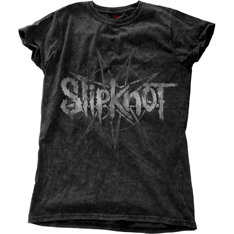 Slipknot - LOGO STAR WITH SNOW WASH FINISHING T-shirt