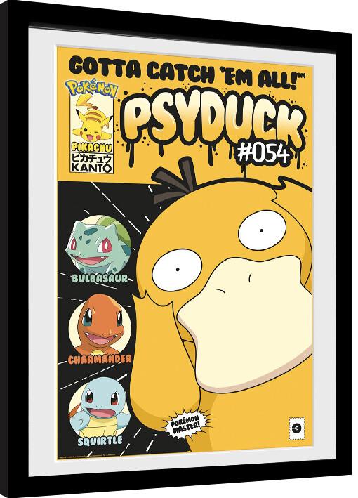 Pokemon Psyduck Comic Poster Encadre Tableau Mural Acheter Le Sur Europosters Fr