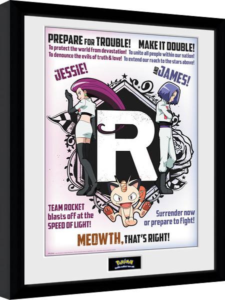 Pokemon Team Rocket Poster Encadre Tableau Mural Acheter Le Sur Europosters Fr