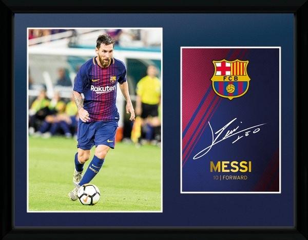 Barcelona Messi 17 18 Poster Encadre Tableau Mural Acheter Le