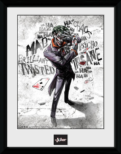Batman Comic - Joker Type Poster encadré