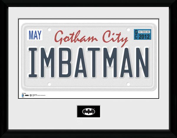 Batman Comic - License Plate Poster encadré