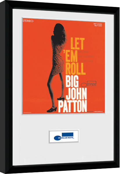 blue note patton poster encadr tableau mural acheter le sur. Black Bedroom Furniture Sets. Home Design Ideas