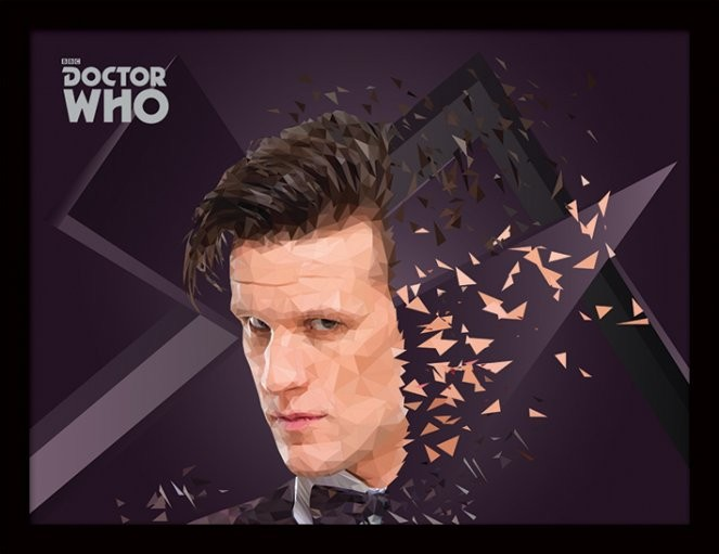 Doctor Who - 11th Doctor Geometric Poster encadré