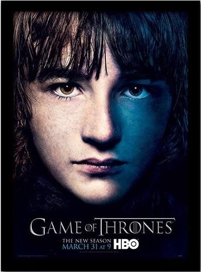GAME OF THRONES 3 - bran Poster encadré