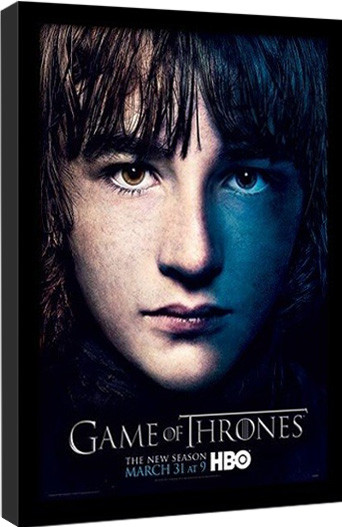 GAME OF THRONES 3 - bran Poster encadré