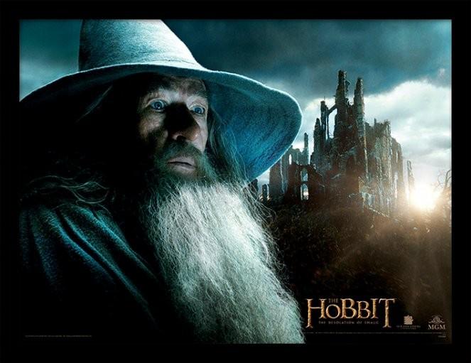 LE HOBBIT: LA DÉSOLATION DE SMAUG - gandalf Poster encadré