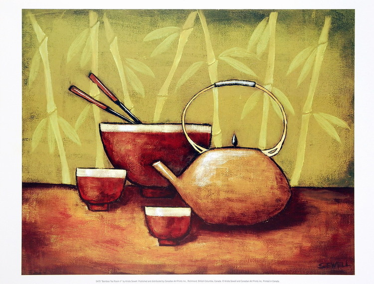 Bamboo Tea Room II Reproduction d'art