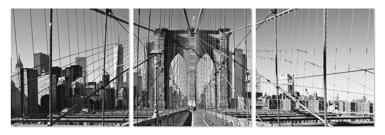 Brooklyn bridge in black and white Tableau Multi-Toiles