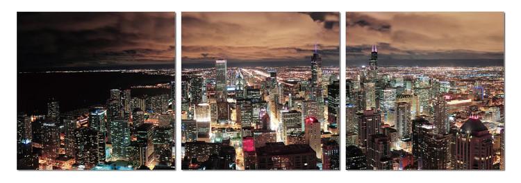 City at dusk Tableau Multi-Toiles