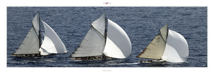 Classic Boats Reproduction d'art