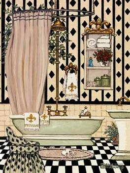 Elegant Bath II Reproduction d'art