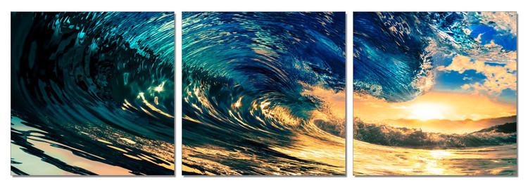 Falling Wave Tableau Multi-Toiles