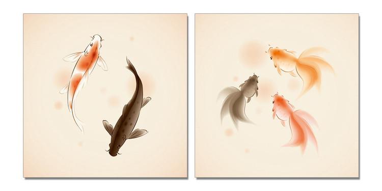 Fish Tableau Multi-Toiles