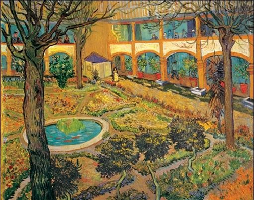 Garden of the Hospital in Arles, 1889 Reproduction d'art