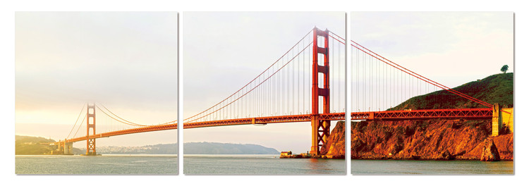 Golden Gate Bridge in San Francisco Tableau Multi-Toiles