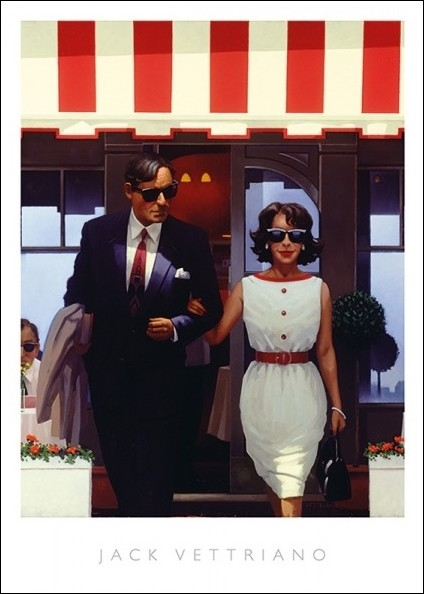 Jack Vettriano - Lunch Time Lovers Reproduction de Tableau