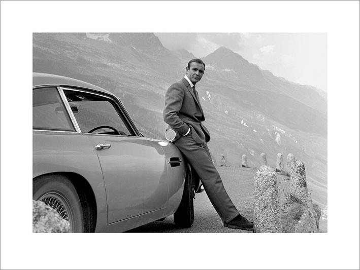 Reproduction d'art James Bond 007 - Aston Martin