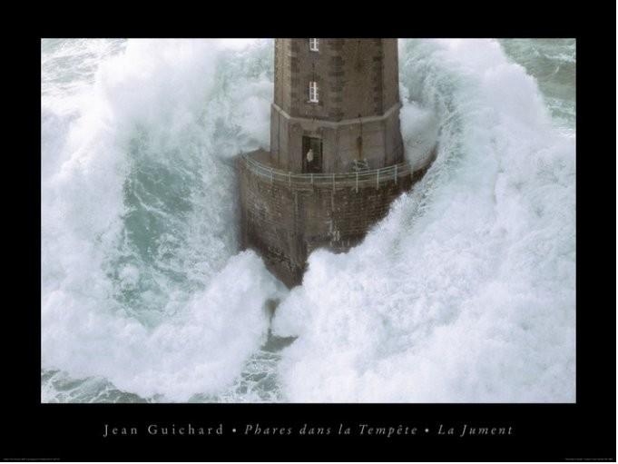 Jean Guichard - Phares Dans La Tempète, La Jument Reproduction d'art