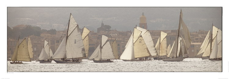 Les voiles de Saint-Tropez Reproduction d'art