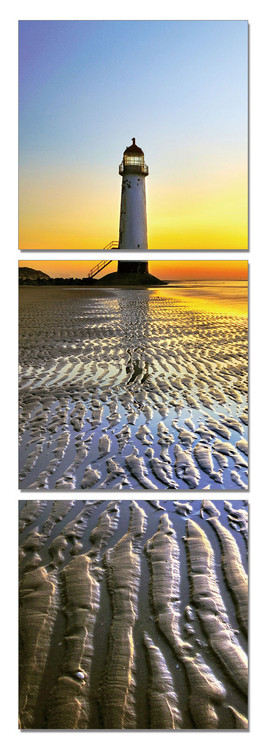 Lighthouse at sunset Tableau Multi-Toiles