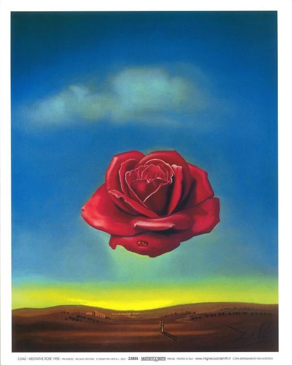 Reproduction d'art Meditative Rose, 1958