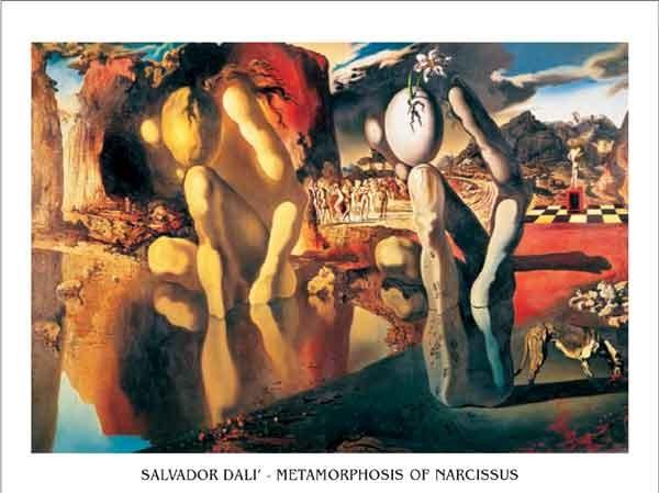 Reproduction d'art Metamorphosis of Narcissus, 1937