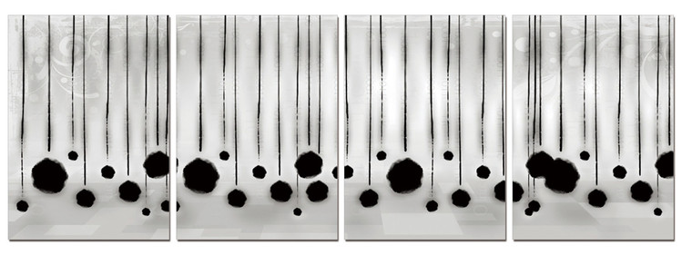 Modern Design - Hanging Balls Tableau Multi-Toiles