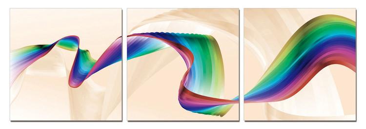 Modern Design - Rainbow Tableau Multi-Toiles