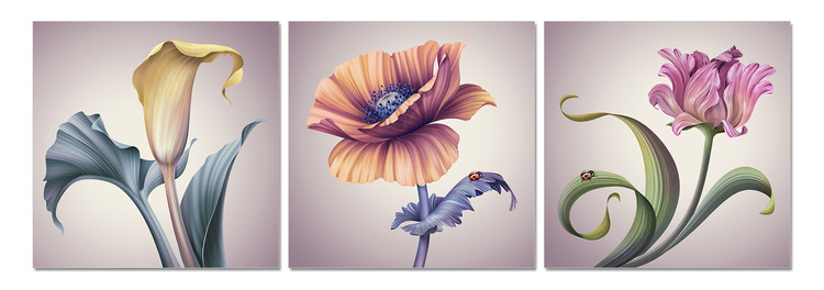 Modern flowers Tableau Multi-Toiles