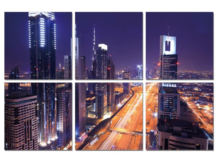 Night traffic Tableau Multi-Toiles