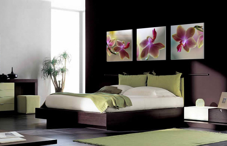 Orchid - Blossoms Tableau Multi-Toiles