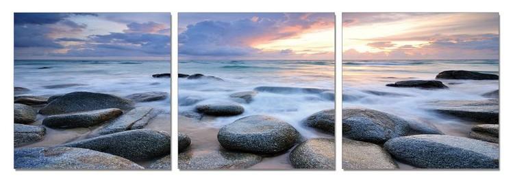 Rocks on a beach Tableau Multi-Toiles