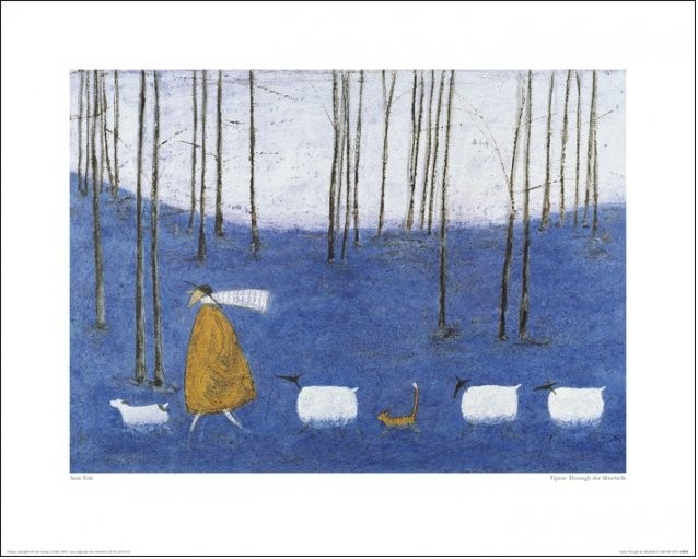 Sam Toft - Tiptoe Through The Bluebells Reproduction d'art
