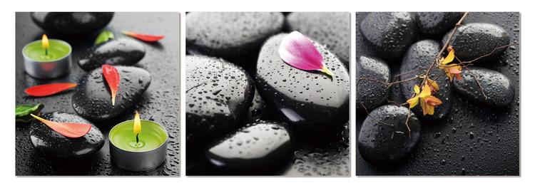 Spa - stones Tableau Multi-Toiles