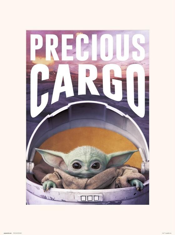 Star Wars: The Mandalorian - Precious Cargo Reproduction de Tableau