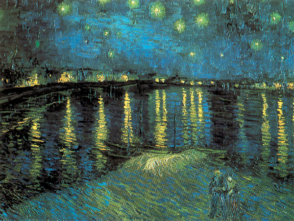 Reproduction d'art Starry Night Over the Rhone, 1888
