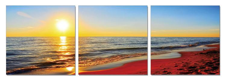 Sunset on the beach Tableau Multi-Toiles