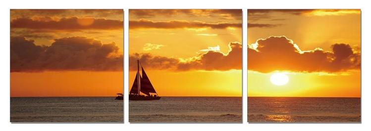 Sunset over the sea Tableau Multi-Toiles