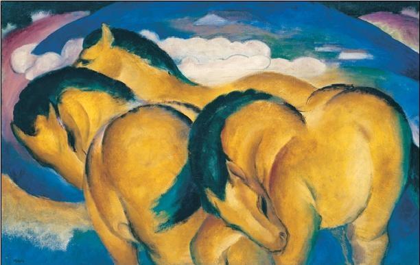 The Little Yellow Horses Reproduction de Tableau