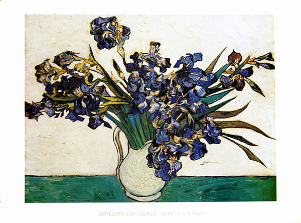 Reproduction d'art Vase with Irises, 1890