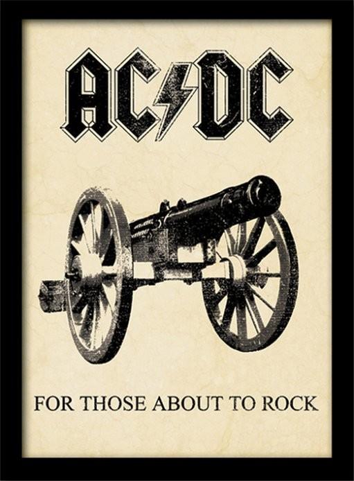 Afiș înrămat AC/DC - for those about to rock