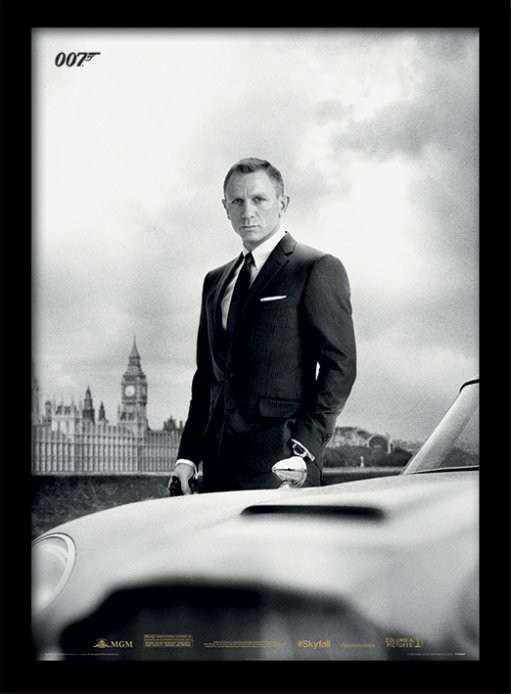 Afiș înrămat James Bond (Skyfall) - Bond & DB5