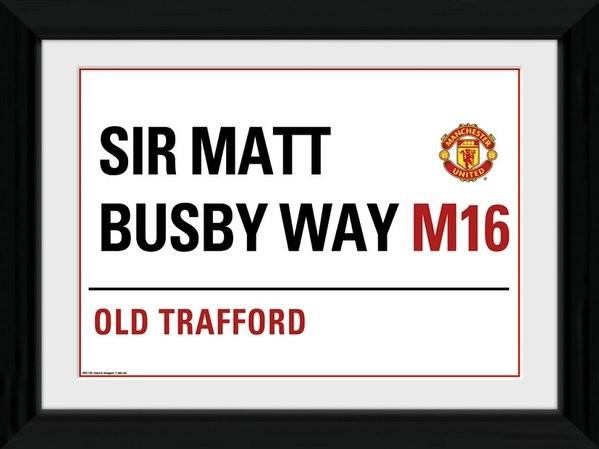Manchester United - Street Sign Afiș înrămat