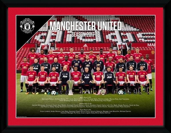 Manchester United - Team Photo 17/18 Afiș înrămat