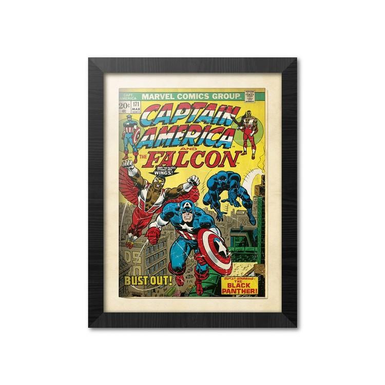 Marvel Comics - Captain America Afiș înrămat